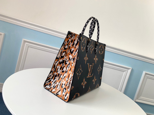 Leopard and zebra matching shopping bag