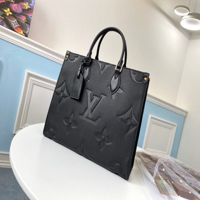 Full-skin squashed mummy bag, black shopping bag